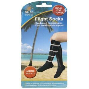 Unisex Compression Socks Relief for Aching Feet Varicose Veins DVT Flight -