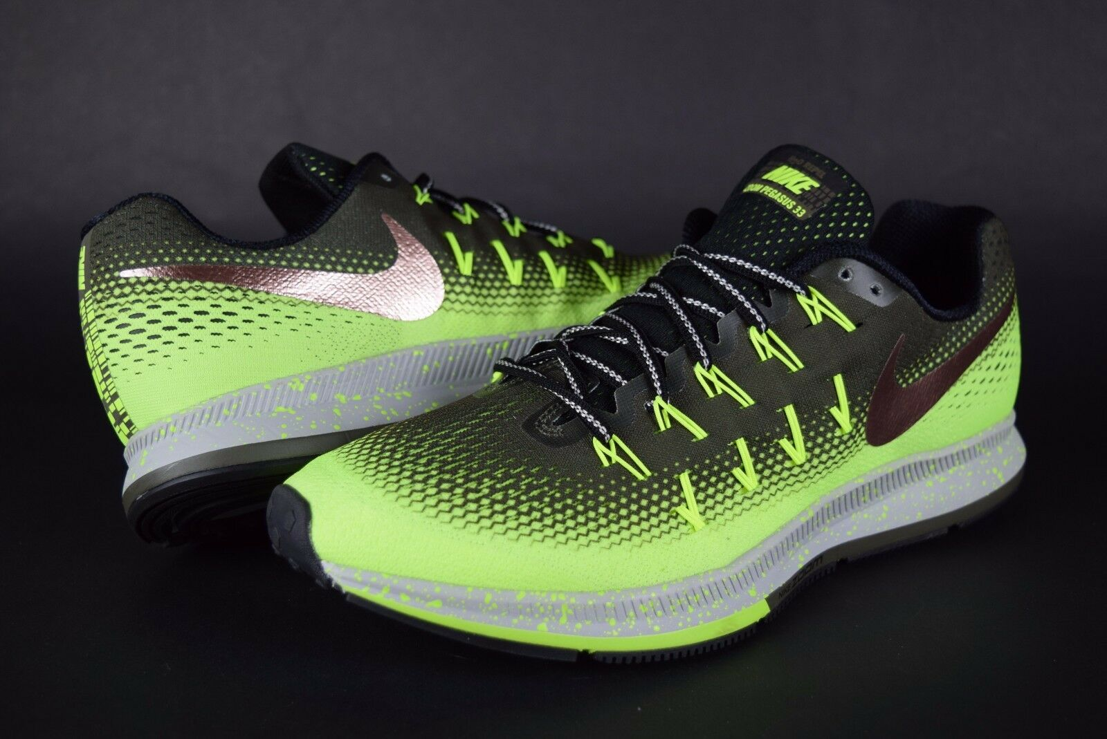 NEW Mens NIKE Air Zoom 300 Pegasus 33 Shield 849564 300 Zoom Volt sz 10 sneakers 0aab71