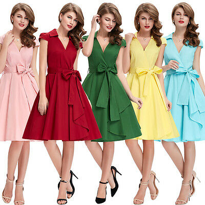 Vintage Retro Swing 50s 60s pinup mother of the groom Evening Dresses
