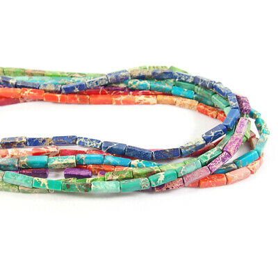 "Column Sea Sediment Jasper Loose Stone Beads Jewellery Making 15/"" Free Shipping"