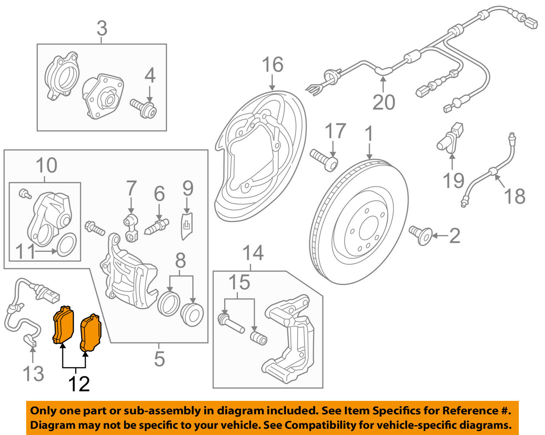 AUDI OEM 2018 S4 Brake-Rear-Disc Brake Pads 8W0698451P
