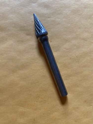 """70452  Cone HTC TOOL Carbide Burr SM-4 Double cut 3//8/"""" Cylindrical New"""