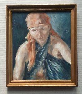 FRANCIS-RUDOLPH-1921-2005-original-signed-oil-painting-female-portrait-1977