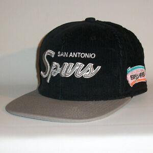 Diplomatique San Antonio Spurs Cap-mitchell & Ness Snapback Cap-nba Basketball-afficher Le Titre D'origine
