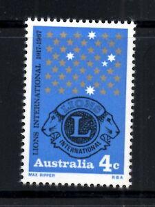 (ref-9165) Australie 1967 Lions International 50th Anniversaire Sg.411 Comme Neuf (neuf Sans Charnière)-afficher Le Titre D'origine