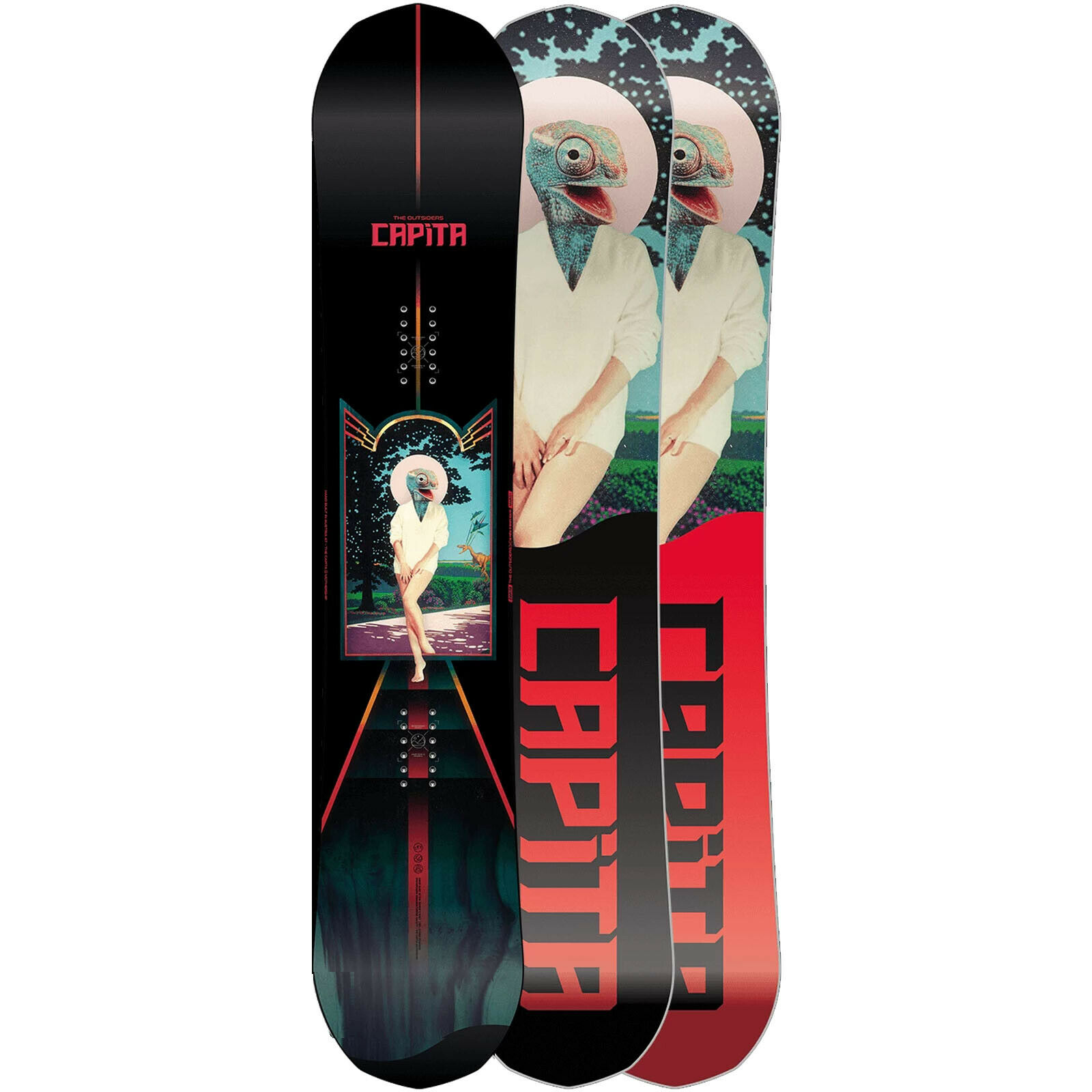 Capita The Outsiders Snowboard schwarz rot bird print SALE NEU