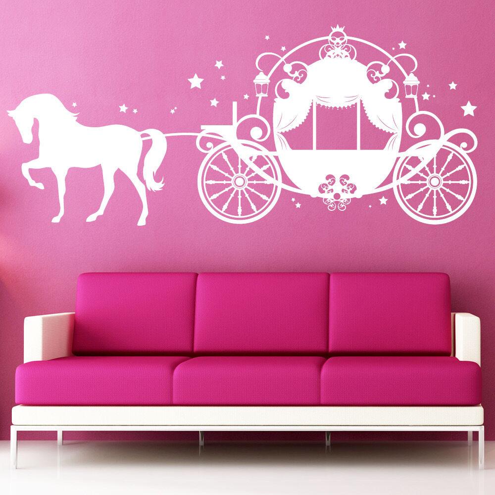 10634 Wandtattoo Loft Wandaufkleber Pferdekutsche Prinzessin Sterne Fantasy Ross | | | Maßstab ist der Grundstein, Qualität ist Säulenbalken, Preis ist Leiter  baefc3