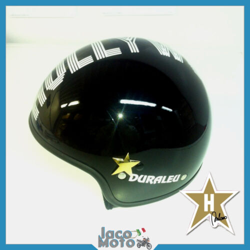 CASCO HOLLYWOOD MILANO Uomo Donna Moto Scooter Jet Helmet Nero TAGLIA S M L XL