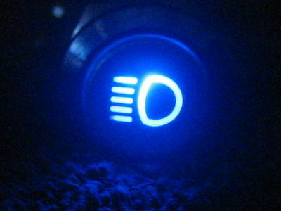 19mm BLUE LED Vehicle Lights ON/OFF Head Light Symbol Push Button Switch 12V