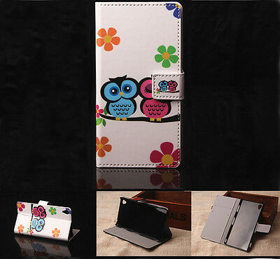 G6 Owl Leather Wallet Card Holder Case Stand Cover For Various Phone Samsung LG