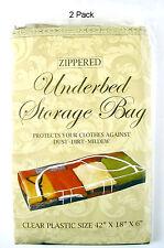 2 Pack Jumbo Zippered Under the Bed Storage Bag, Generously Sized to Hold Bulk