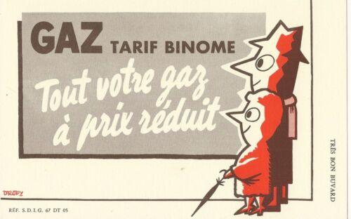 BUVARD 105592 GAZ TARIF BINOME PAR DROPY