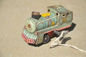 Vintage-Wind-Up-1967-RTC-Fine-Litho-Train-Tin-Toy-Collectible