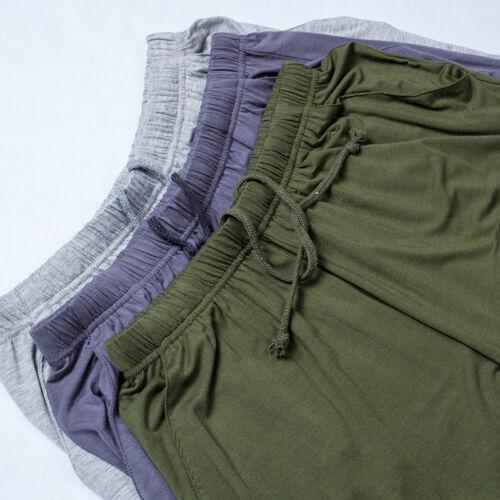 Hommes Pantalon De Détente moitié Short Pyjama Bottoms Cordon Casual Sports Doux Solide