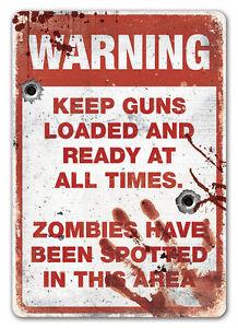 WTF-Zombie-Zone-Avertissement-Plaque-Murale-En-Metal-Art-Kitsch-Mort-vivant