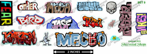 O Scale Sherwood Shops Graffiti Decals Set #9    HO S