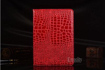 Folio Crocodile PU Leather Case Cover For Samsung Galaxy Tab A / S2 /S3