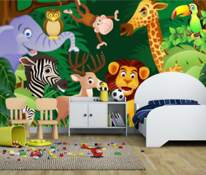 3D Animals Tree 575 Wallpaper Murals Wall Print Wallpaper Mural AJ WALL AU Kyra