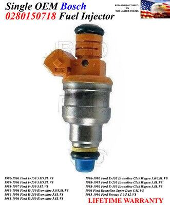 1986-1996 Ford F-150 5.0//5.8L V8// Rebuilt 8x OEM Bosch Fuel Injectors 0280150718