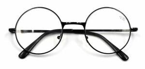 occhiali-da-lettura-Nera-rotondo-occhiali-da-vista-Uomo-Donne-Metallo-1-0-4-0