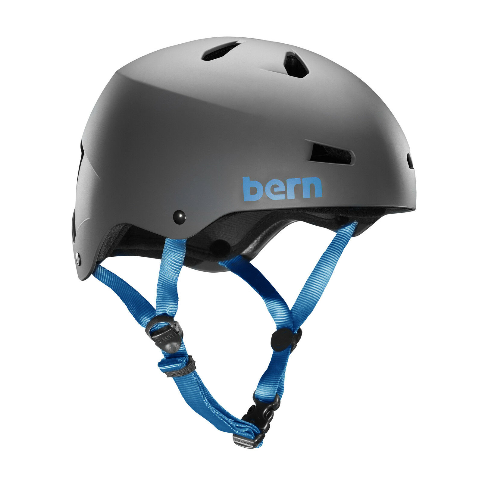 Bern Macon Mens Bike Cycle Helmet  Thin Shell Crank S-M   L-XL Matte Grey bluee st  promotional items
