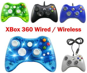 Wired-Wireless-Game-Controller-Gamepad-for-Microsoft-XBOX-360-amp-PC-LED-Solid