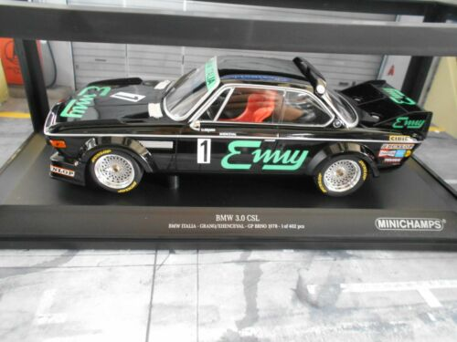 Bmw 3.0 CSL talla 2 Luigi racing #1 Enny italia misit Brno 1978 win Minichamps 1:18