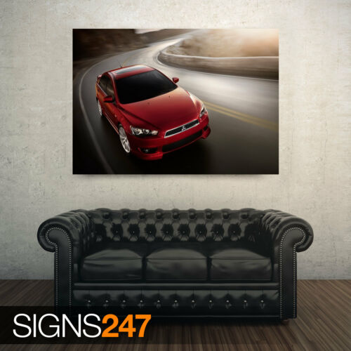 Photo Picture Poster Print Art A0 to A4 AB730 RED MITSUBISHI CAR POSTER
