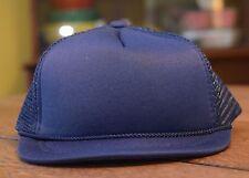 HARD TO FIND - NEW - Baby Infant Trucker Hat - NAVY BLUE - Blank Newborn Cap