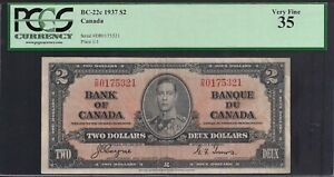 1937-Canada-Bank-Note-2-KGVI-P59c-Coyne-Towers-PCGS-VF35-TMM