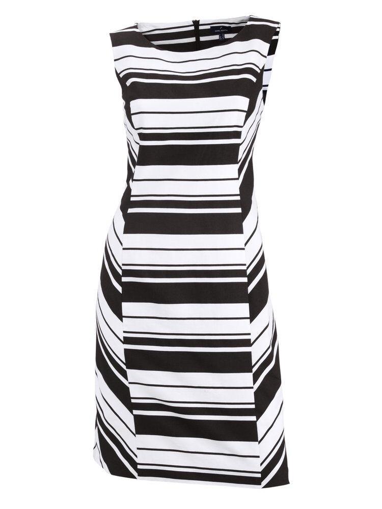 Sommerkleid schwarz weiß 42 Streifen DANIEL HECHTER Kleid maritim  NP