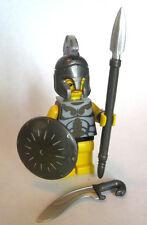Lego Custom SPARTAN WARRIOR Minifigure with Custom Weapons and Armor