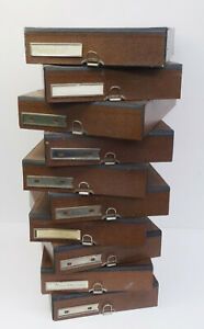 Antike-Schreibtisch-Ablagen-Kaesten-Buero-Sortier-Kasten-Industrie-Design-Bauhaus
