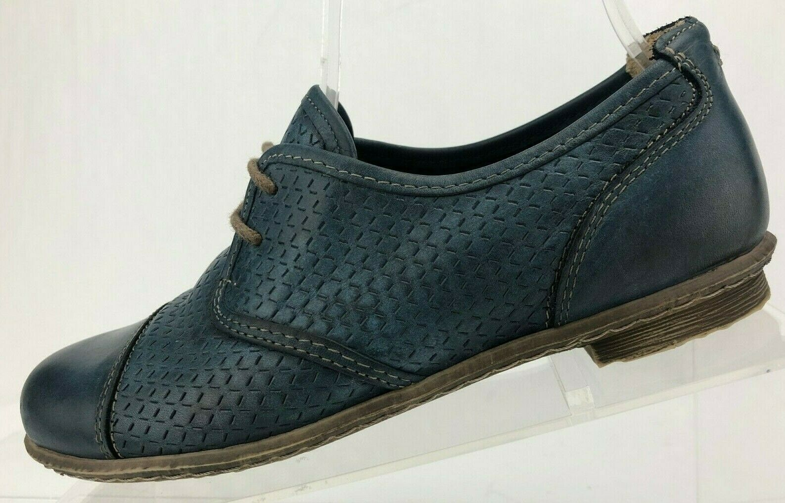 Taos Oxfords Jiminy blu Leather Casual Dress scarpe Comfort donna Dimensione 5,5.5