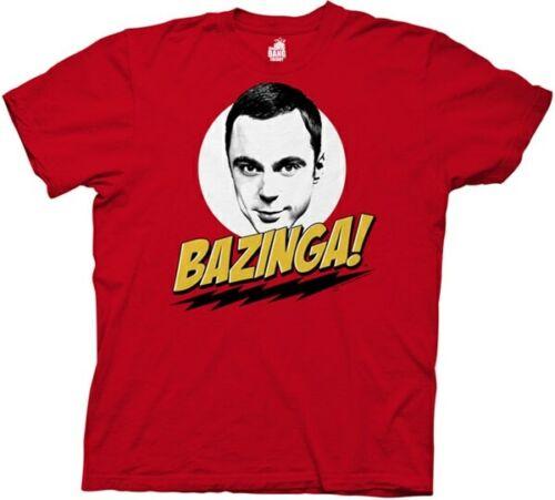 The Big Bang Theory Bazinga With Sheldon Men/'s Red T-Shirt
