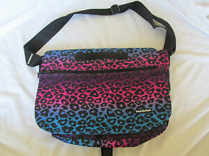 New Yak Pak Ombre Leopard Print Backpack Messenger Bag