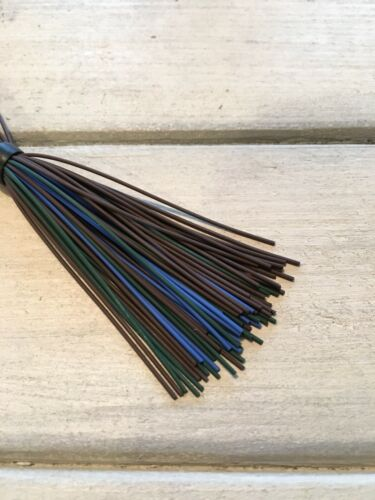 Finesse Bass Jig Skirts Living Rubber Lot Of 10 Color Brown Blue Green