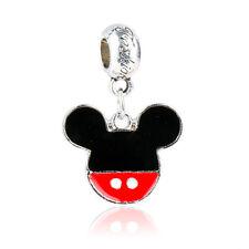Fine Big Mouse Head Pendant Dangle Bead Fit 925 Silver Charm Bracelet