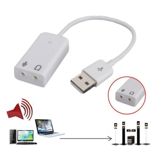 Hot USB 2.0 3D Virtual 7.1 Channel PC Desktop Windows Audio Sound Card Adapter d