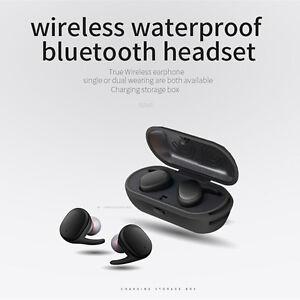 TWS Waterproof Wireless Earphones Mini Earbuds Twins Sport Bluetooth Headset SUP