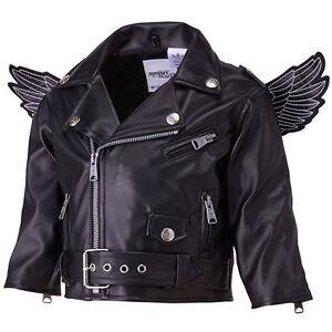 Adidas Originals Jeremy Scott Black Wings Biker Baby Toddler Jacket ... b82601461226