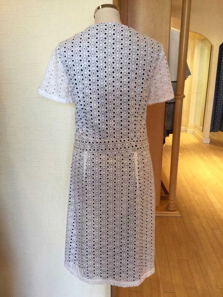 James Lakeland Lakeland Lakeland Dress Größe 14 BNWT Cream Navy   Now f3c338
