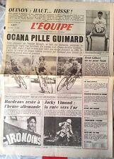 L'Equipe Journal 19/06/1985; Quinon/ Ocana Pille Guimard/ Jacky Vimond/ Tiozzo