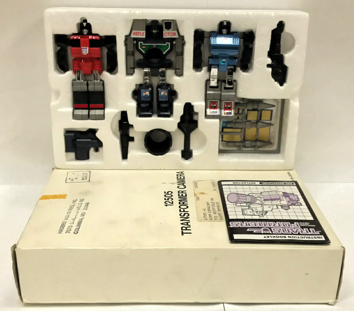 REFLECTOR; 1985 Hasbro; G1 Vintage Transformers; 110% COMPLETE COMPLETE COMPLETE w  mailing box 282ce0