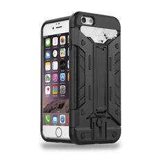 Credit Card Pocket Holder Shockproof Stand Armor Case Cover For iPhone SE 5s 5
