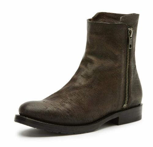 FRYE NATALIE DOUBLE ZIP ANKLE BOOTS 3478491-CCL CHARCOAL