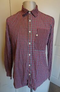Mens-Barbour-Dept-B-Long-Sleeved-Check-Casual-Shirt-Size-Large