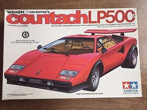 Vintage Tamiya Lamborghini Countach Lp500s 1 24 Scale Model Kit