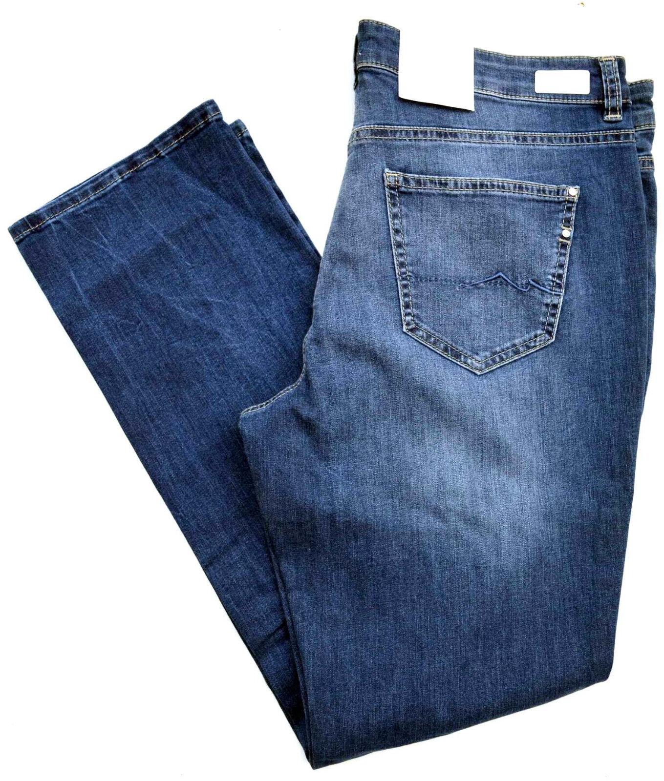 MAC Jeans ANGELA Blau Denim Stretch  blau Slim Fit BASIC Gr.40 L 32  NEU