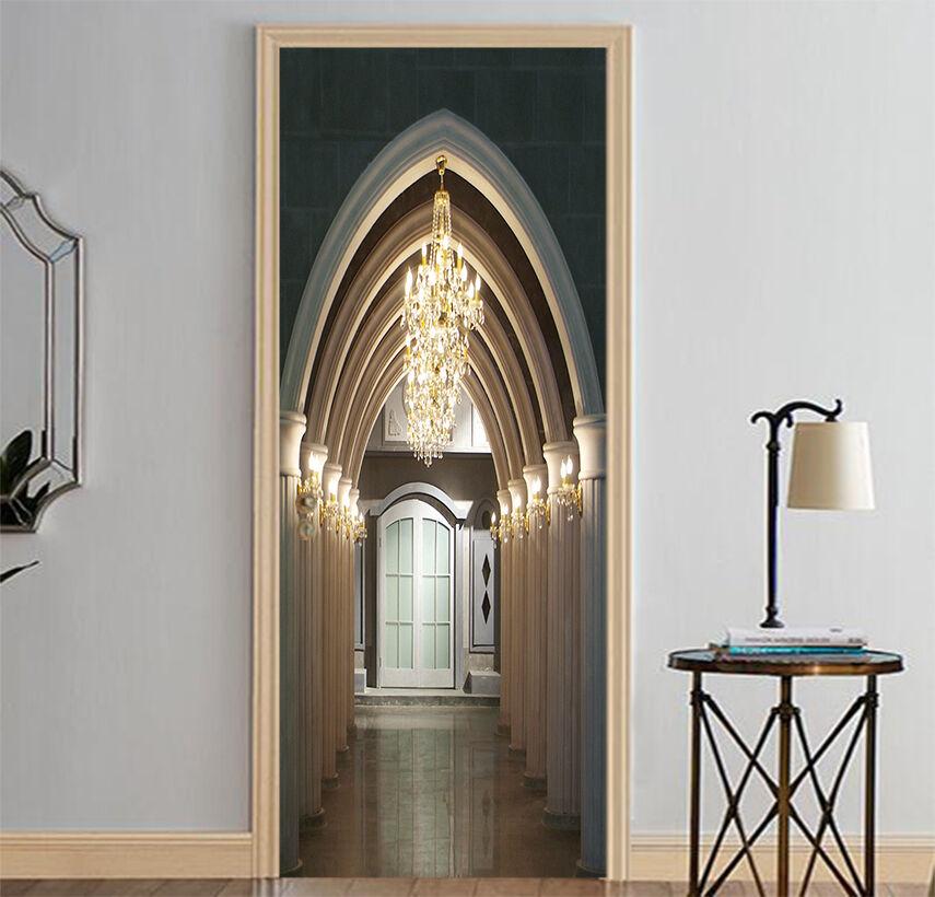 3D Korridor 706 Tür Wandmalerei Wandaufkleber Aufkleber AJ WALLPAPER DE Kyra
